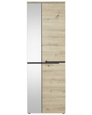 Voleo PREDSIEŇOVÁ SKRIŇA, grafitová, farby dubu, 65/192/38 cm - grafitová, farby dubu