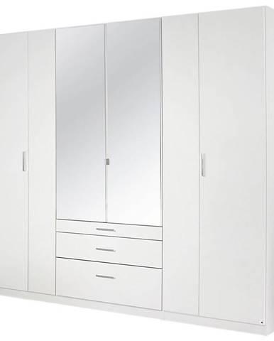 Xora SKRIŇA S OTOČNÝMI DVERAMI, biela, 226/210/54 cm - biela