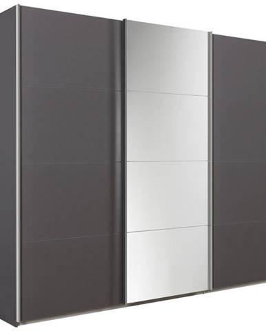 Xora SKRIŇA S POSUVNÝMI DVERMI, sivá, 270/230/62 cm - sivá