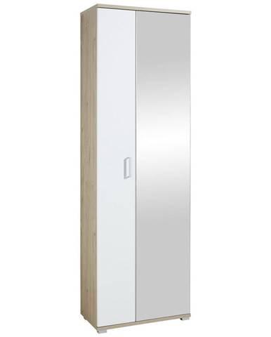 Xora SKRINKA NA TOPÁNKY, biela, farby dubu, 70/219/38 cm - biela, farby dubu