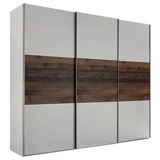 Moderano SKRIŇA S POSUVNÝMI DVERMI, hnedá, sivá, 280/222/68 cm - hnedá, sivá
