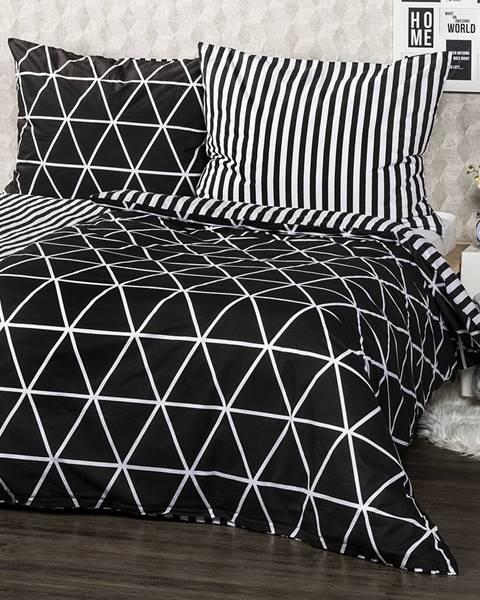 4Home 4Home Bavlnené obliečky Galaxy čierna, 140 x 200 cm, 70 x 90 cm