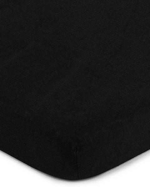 4Home 4home jersey prestieradlo čierna, 160 x 200 cm