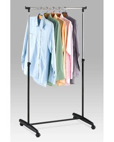 Stojan na šaty chróm / čierna, 80 x 160 cm