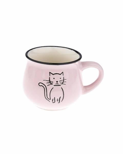 Matějovský Keramický hrnček Mačka 230 ml, ružová