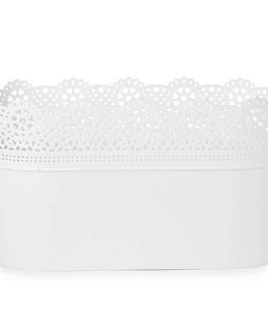Prosperplast Plastový kvetináč Lace, biela