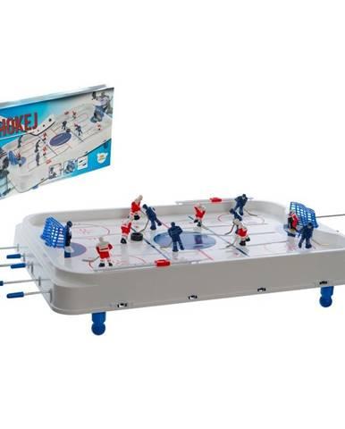 Teddies Hokej spoločenská hra 63x41cm plast / kov kovová tiahla v krabici 73x43,5x8,5cm