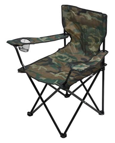 Cattara Kempingová skladacia stolička Bari army, 49 x 39 x 84 cm