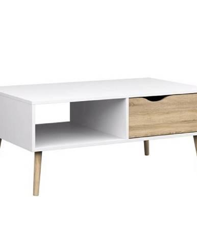 Konferenčný stolík dub sonoma/biela OSLO 75384