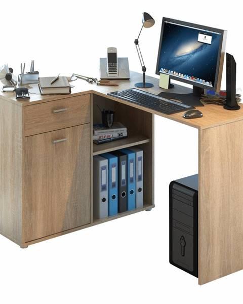 Kondela Rohový PC stôl dub sonoma KALIMERO