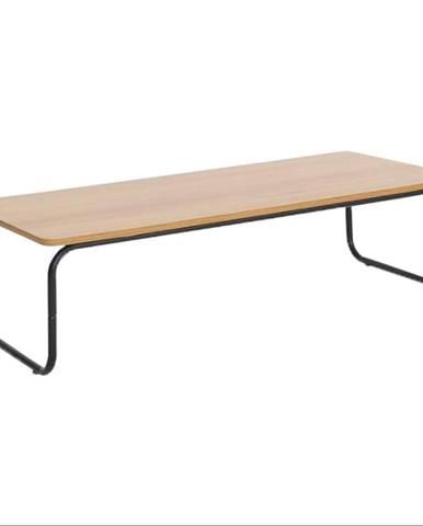 Konferenčný stolík dub/čierna LAVERNE TYP 1