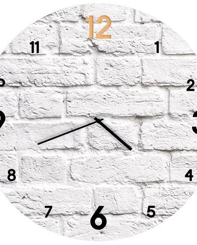 Sklenené hodiny 30cm BRICK