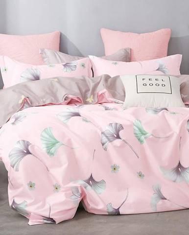 Bavlnená saténová posteľná bielizeň ALBS-01078B 160X200