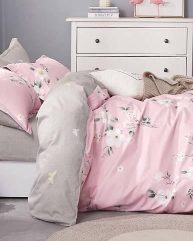 Bavlnená saténová posteľná bielizeň ALBS-01082B 200X220