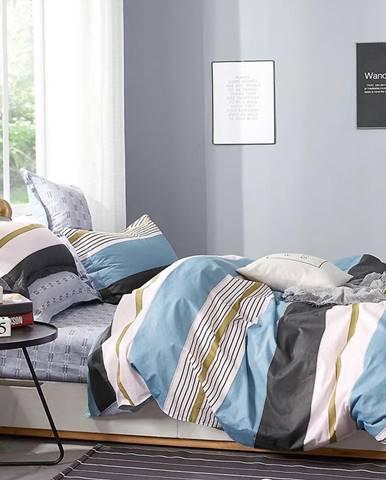 Bavlnená saténová posteľná bielizeň ALBS-01093B 200X220