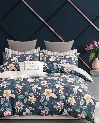 Bavlnená saténová posteľná bielizeň ALBS-01147B 200X220