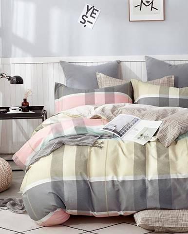 Bavlnená saténová posteľná bielizeň ALBS-01162B 160X200