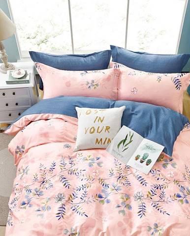 Bavlnená saténová posteľná bielizeň ALBS-01179B 160X200