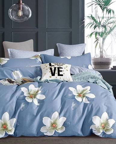 Bavlnená saténová posteľná bielizeň ALBS-01215B 160X200