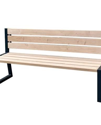 Moderní lavička s opěradlem přírodní dřevo