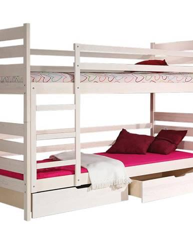 Poschodová posteľ Darek 190x80 biely