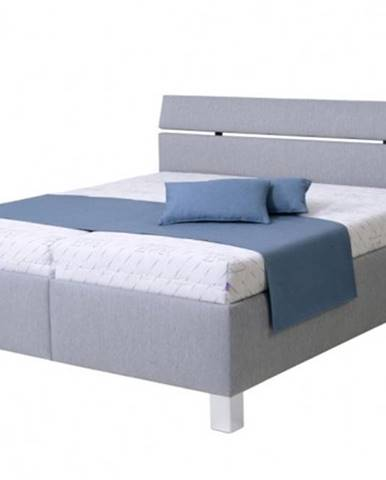 Čalúnená posteľ Anne 180x200, sivá, vr. matracov, pol. roštu, ÚP