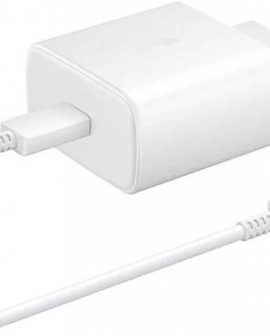 Nabíjačka Samsung 1x USB Typ C, 45W + USB kábel Typ C, biela