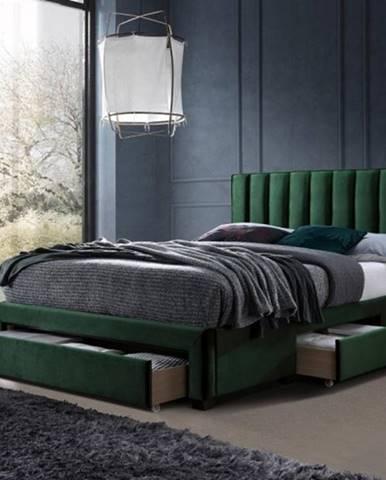 Čalúnená posteľ Wolfgang 160x200, zelená, vrátane roštu a ÚP