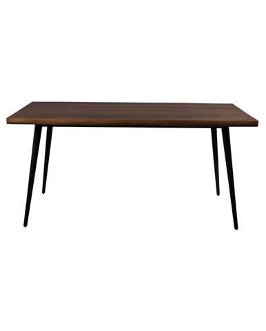 Jedálenský stôl s čiernymi oceľovými nohami Dutchbone Alagon Land, 160 x 90 cm