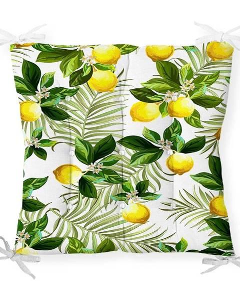 Minimalist Cushion Covers Sedák s prímesou bavlny Minimalist Cushion Covers Lemon Tree, 40 x 40 cm