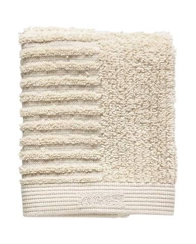 Béžový bavlnený uterák na tvár Zone Classic, 30 x 30 cm