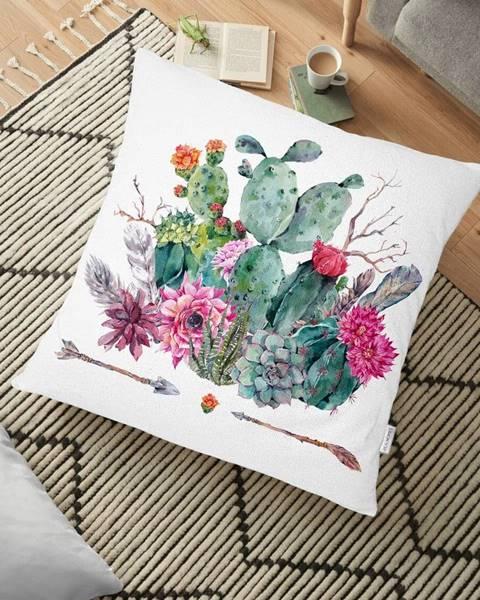 Minimalist Cushion Covers Obliečka na vankúš s prímesou bavlny Minimalist Cushion Covers Desert Flowers, 70 x 70 cm