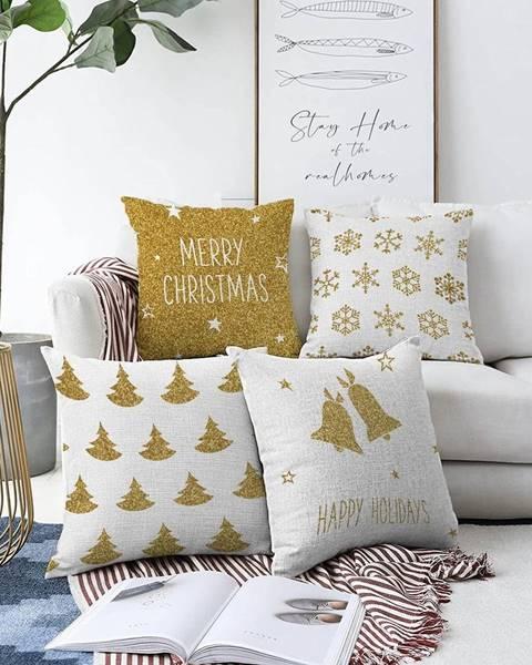 Minimalist Cushion Covers Súprava 4 obliečok na vankúše Minimalist Cushion Covers Christmas Vibes, 55 x 55 cm