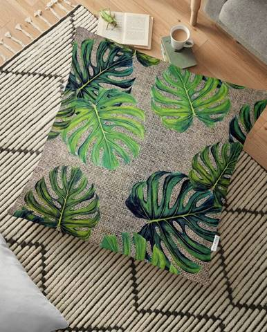 Obliečka na vankúš s prímesou bavlny Minimalist Cushion Covers Banana Leaves, 70 x 70 cm