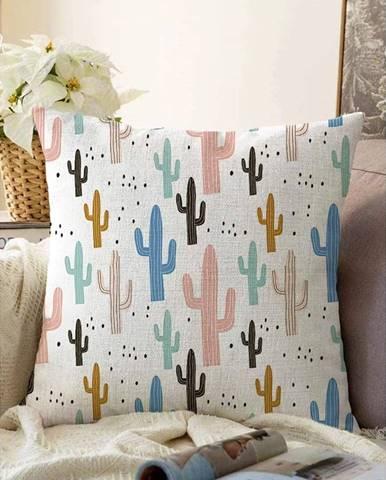 Obliečka na vankúš s prímesou bavlny Minimalist Cushion Covers Cacti, 55 x 55 cm