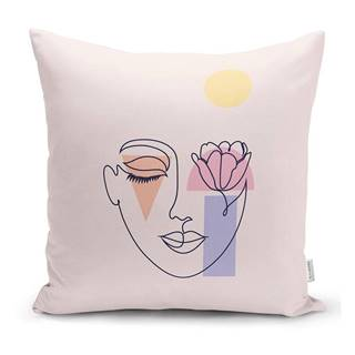 Obliečka na vankúš Minimalist Cushion Covers Post Modern Drawing, 45 x 45 cm