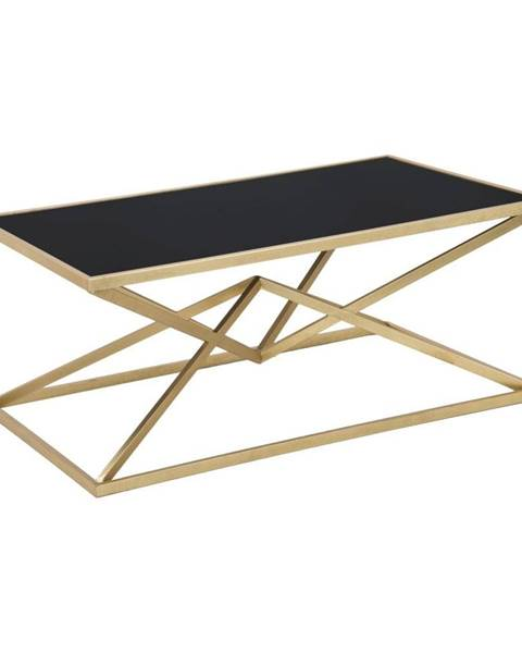 Mauro Ferretti Konferenčný stôl s čiernou sklenenou doskou Mauro Ferretti Piramid, 110×60 cm