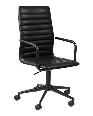 Čierna kancelárska stolička na kolieskach Actona Wislow
