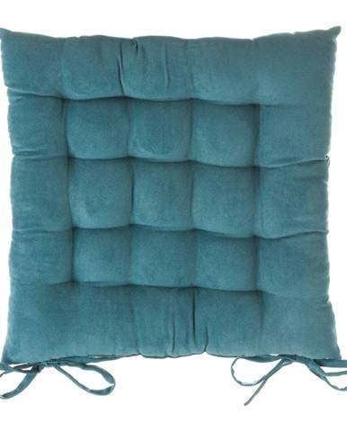 Modrý vankúš na sedenie na stoličku Unimasa, 40×40cm