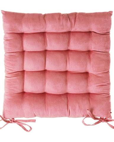 Ružový vankúš na sedenie na stoličku Unimasa, 40 x 40 cm