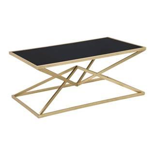 Konferenčný stôl s čiernou sklenenou doskou Mauro Ferretti Piramid, 110×60 cm