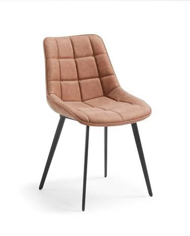 Hnedá jedálenská stolička La Forma Adah