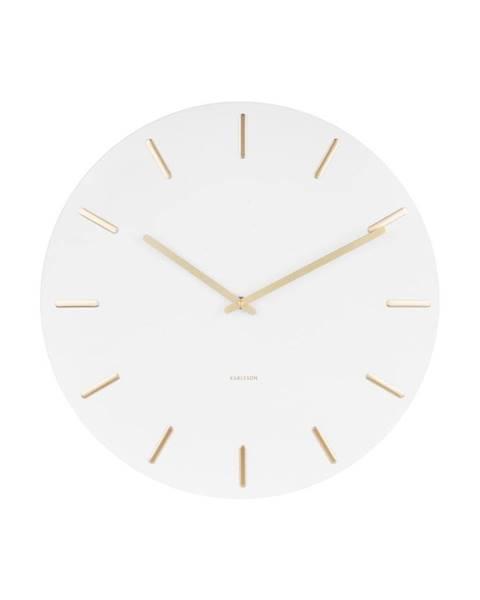 Karlsson Biele nástenné hodiny Karlsson Charm