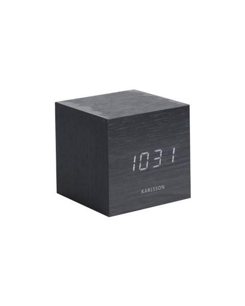 Karlsson Čierny budík Karlsson Mini Cube, 8×8 cm