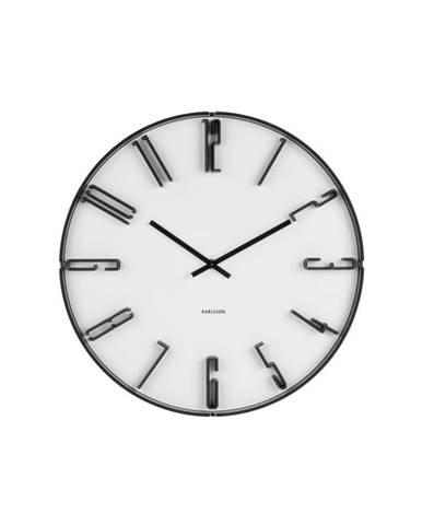 Biele nástenné hodiny Karlsson Sentient, ⌀40cm