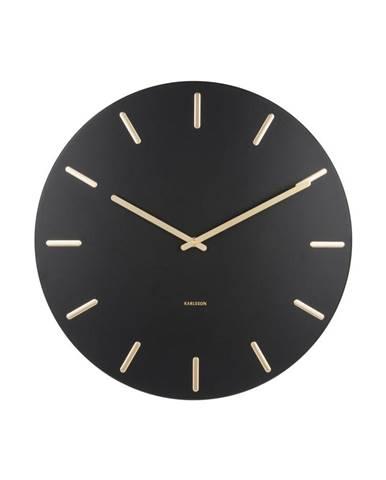 Čierne nástenné hodiny Karlsson Charm