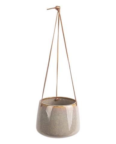 Sivý keramický závesný kvetináč PT LIVING Unique, ø 19 cm