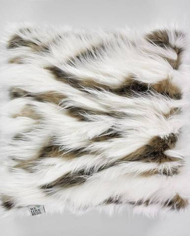 Bielo-hnedé obliečky na vankúš WeLoveBeds Fluffy Milk and Cacao, 50 x 50 cm