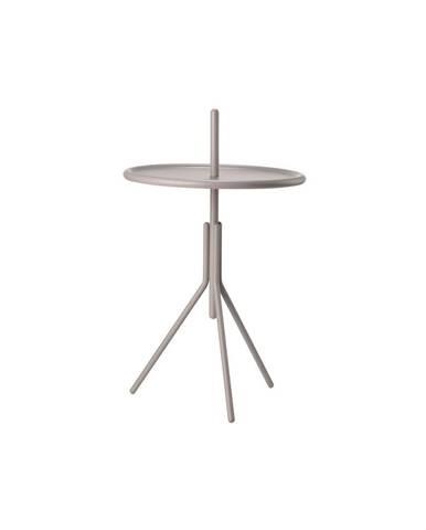 Sivý kovový odkladací stolík Zone Inu, ø 33,8 cm