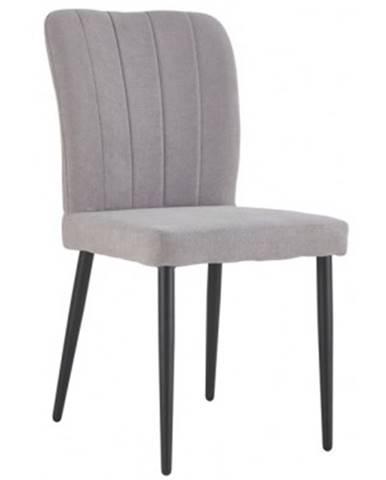 Jedálenská stolička Padua, svetlo šedá látka%